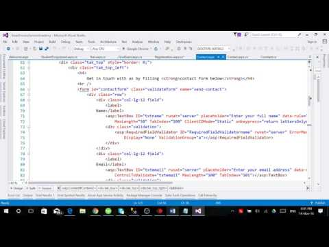 Live Web Development by Using ASP.NET C#