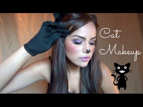 AlbaMayo: Cute Cat Halloween Makeup!