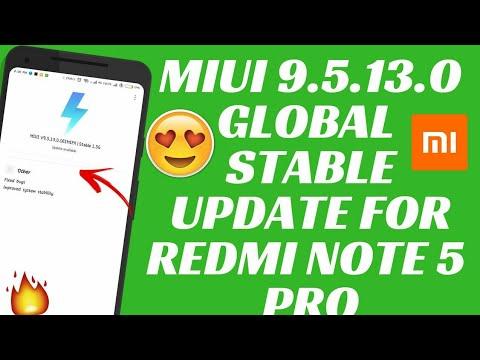 MIUI 9.5.13.0 GLOBAL STABLE UPDATE | MIUI 9 GLOBAL STABLE UPDATE | REDMI NOTE 5 PRO |