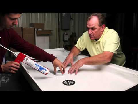 Plastic Oddities - Fiberglass Shower Drain Installation Video