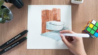 How to Render Architecture Materials Using Alcohol Markers