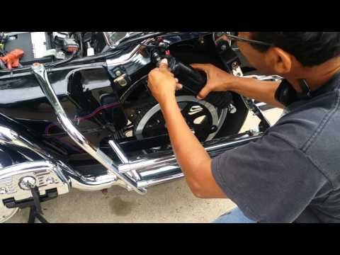 How to install a lowering kit on motorcycle part 2