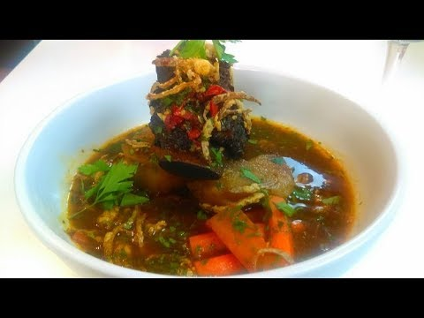 Keith Lorren's Braised Beef Short Rib Soup and red wine Spritzer (extended no music)
