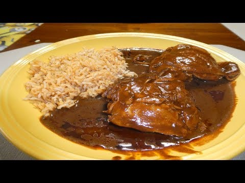 Pollo en Mole (Chicken in Dona Maria Mole Sauce)