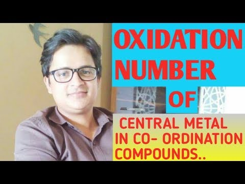 coordination compounds.. method to calculate oxidation no.. of central metal is explained