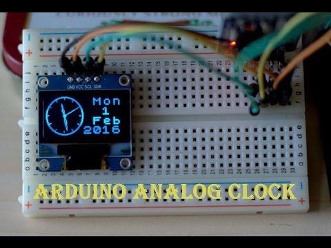 ARDUINO ANALOG CLOCK WITH OLED DISPLAY