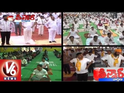 India sets Guinness Records with Yoga Day Event at Delhi | Teenmaar News - V6 News