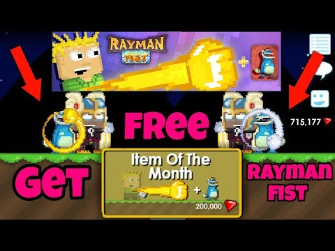 Who got the free Rayman Fist ?| Growtopia