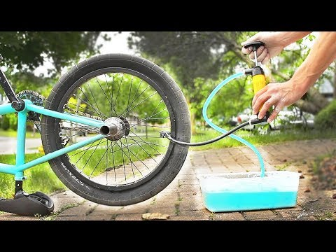 Filling a BMX TIRE with OOBLECK!