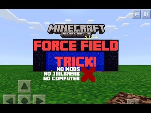 Minecraft PE 1.0.9+   Force Field Trick!   No Mods! No Jailbreak! No Computer!