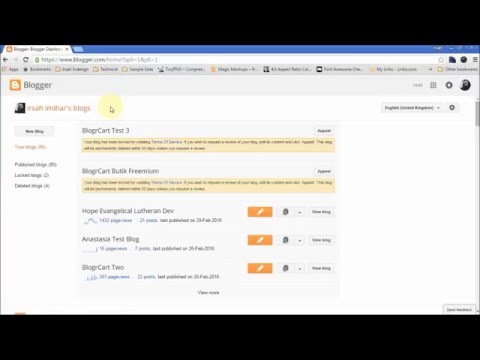 How to Install Blogger Template Tutorial with Shopping Cart - BlogrCart TWO