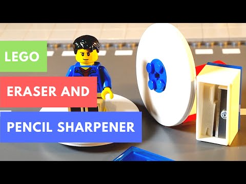 Lego Pencil Sharpener and Eraser Review