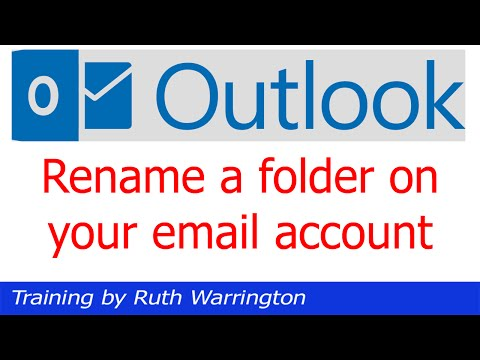 Outlook 2014 -  How to rename a folder on your email account