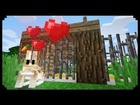 ✔ Minecraft: How to make a rabbit cage