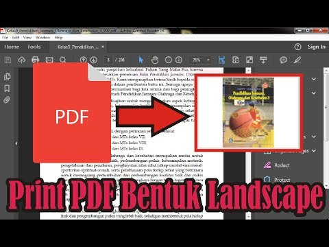【Tutorial】 Cara Print PDF Bentuk Landscape | Adobe Acrobat Reader DC • Simple News Video