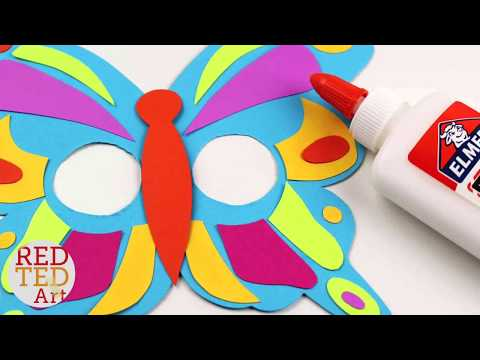 How to make a Butterfly Masks - Free Printable Butterfly Mask DIY - Paper Butterfly Craft
