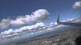 Philippines airlines nice view of landing Manila NAIA(runway24)