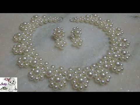 #3 How to make Pearl Beaded Necklace Set || Diy || Jewellery Making