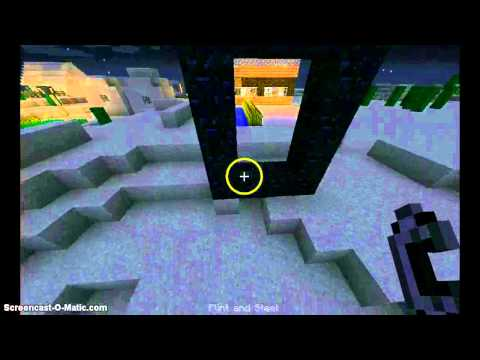 Minecraft- How to make a Nether Portal!!!