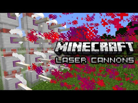 HOW TO MAKE A MINECRAFT LASER CANNON