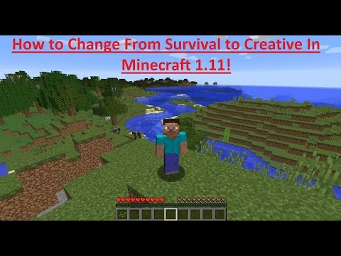 How to Change from Survival to Creative Mode in Minecraft 1.11 with Cheats Disabled!