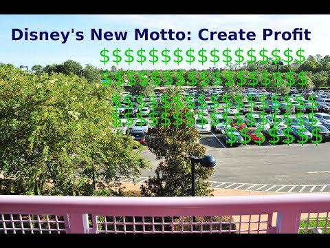 Disney charging WDW Guests For Parking