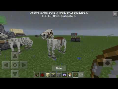 Minecraft PE Ride Skeleton Horse