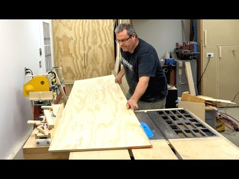How To Cut A Large Piece Of Plywood On The Table Saw
