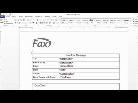 Creating a Custom Cover Page | Concord Fax