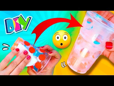 How to customize CUPS with NAIL POLISH REMOVER 💅🏼  Amazing HACK with nail polish remover🤓