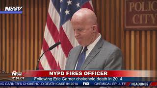 NYPD OFFICER FIRED: Officer Daniel Pantaleo accused in 2014 Eric Garner case