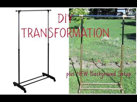 DIY Clothing Rack Transformation
