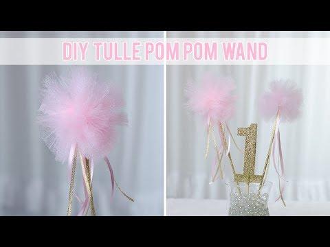 How to Make a Tulle Pom Pom Wand | DIY Princess Wand | Simply Dovie