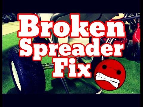 How To Repair Fix Fertilizer Spreader - Fertilizer Spreader Not Working, Broken