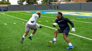 ANKLES WERE TAKEN! DB vs WR 1ON1s AGAINST COLLEGE FOOTBALL PLAYERS! (IF I WIN I GET THEIR GEAR)