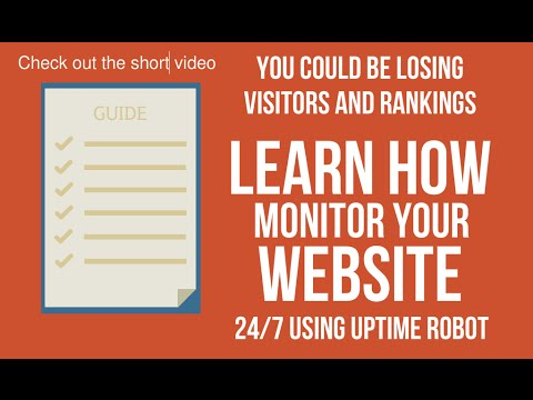 Using Uptime Robot to Monitor Your Website