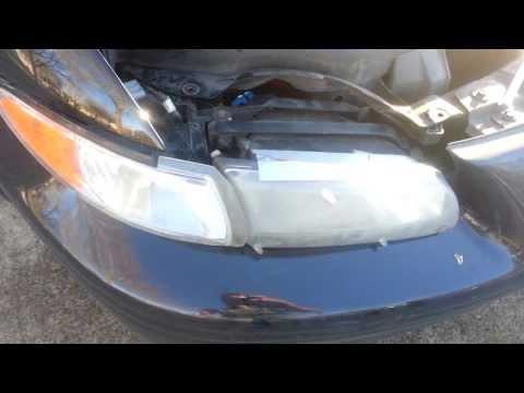 1998 Pontiac Grand Prix headlight assembly turn signal light bulb replacement