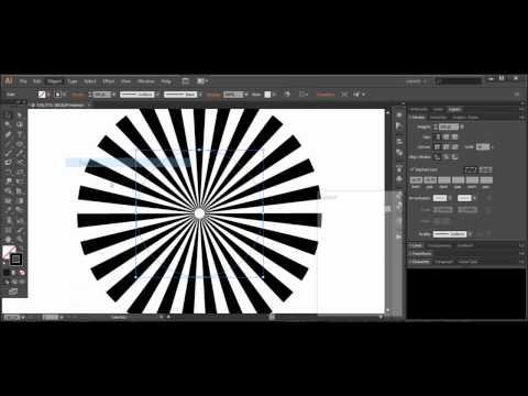Sunburst effect - Adobe Illustrator cs6 tutorial. Quick and easy way to create nice background.