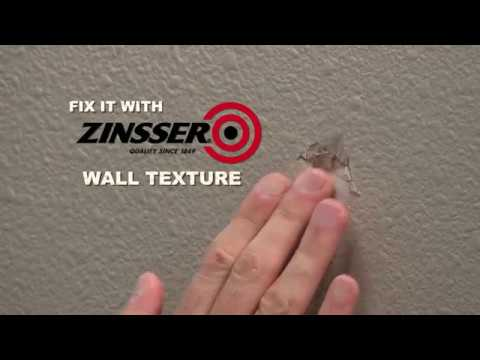 Fix it with Zinsser Wall and Ceiling Texture