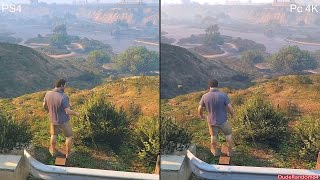 Gta K Vs Ps4 Graphics Comparison