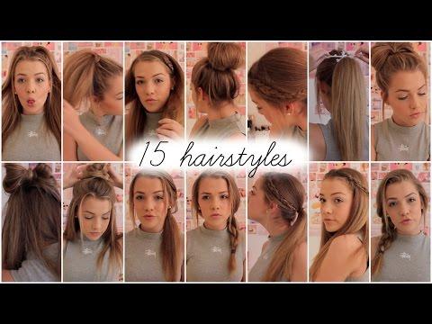 15 heatless hairstyles || Lilyellaburt ♡
