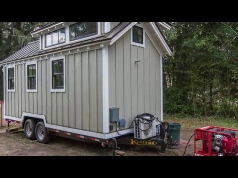 Tiny House To Help Flood Victims Video Tour