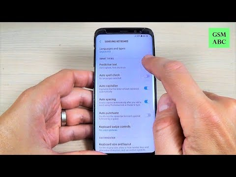 How to Turn Off SMS Predictive Text on Samsung Galaxy S8, S8+ and NOTE 8