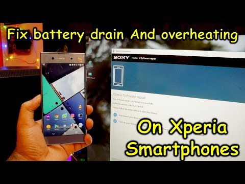 Fix common problems like battery drain and overheating after Android update on Xperia smartphones