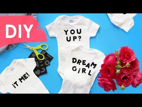 DIY Personalized Onesies | Homemade Baby Shower Gift