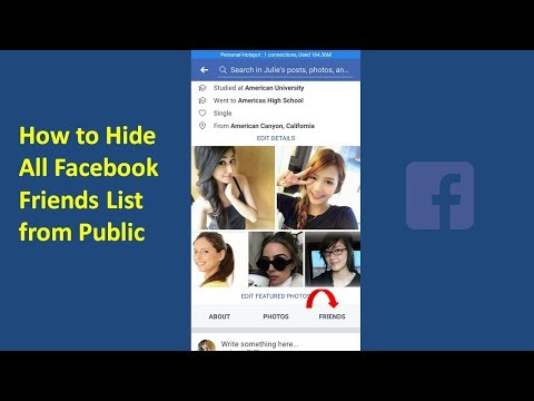 How to Hide Your Facebook Friends List from Public On Mobile 2018