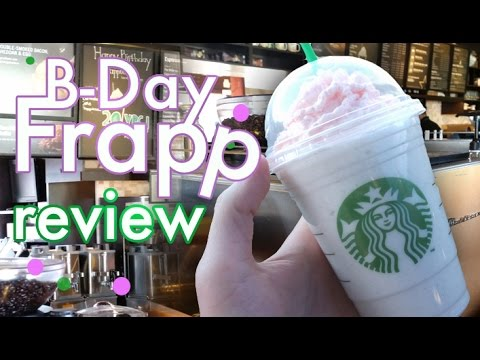 Starbucks Birthday Cake Frappuccino Review - Vlog #17