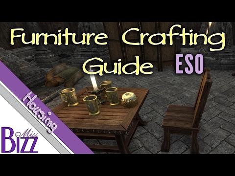 Furniture Crafting Guide ESO - Elder Scrolls Online Homestead How to make Furniture