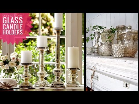 3 Easy Steps To Create Beautiful Mercury Glass Candle Holders