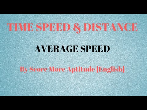 Time Speed and Distance   Average Speed Calculation
